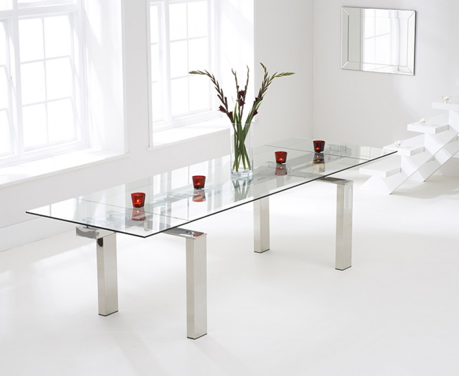 Lazio 200Cm Extending Glass Dining Table | The Great Furniture Inside Lazio Dining Tables (Image 8 of 25)
