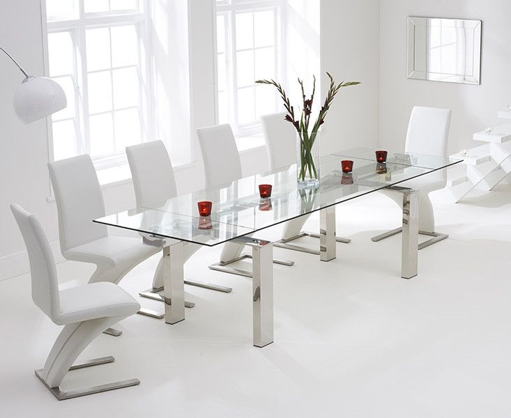Lazio 200Cm Extending Glass Dining Table With Hampstead Z Chairs With Lazio Dining Tables (Image 9 of 25)