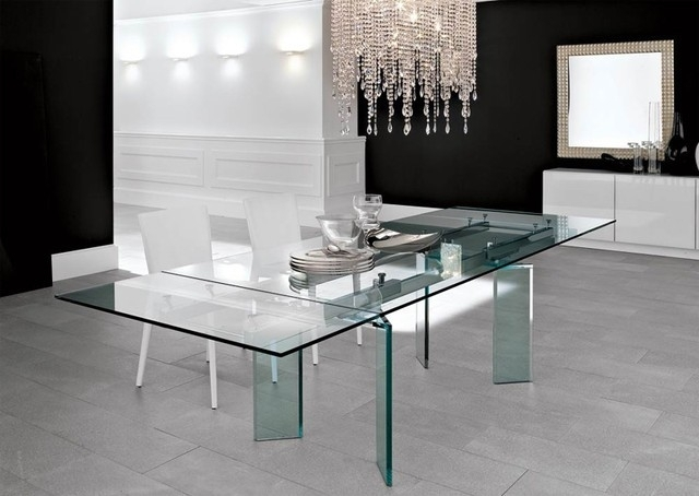 Lazio Extending Glass Table – An Ideal Design For Young Families Inside Lazio Dining Tables (Image 22 of 25)