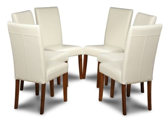 Leather Cream Dining Chairs For Your Dining Room Intended For Cream Leather Dining Chairs (Image 15 of 25)