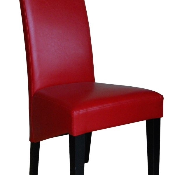 Leather Dining Chair | Red | M109 | Brisbane | Devlin Lounges Regarding Red Leather Dining Chairs (Image 8 of 25)