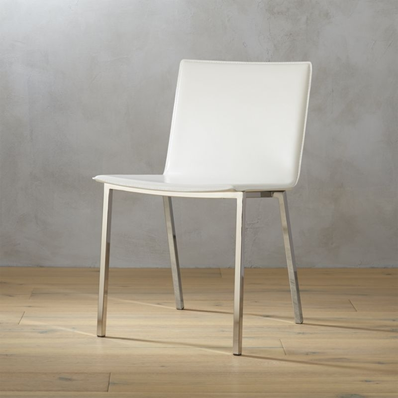 Leather Dining Chairs | Cb2 Intended For Ivory Leather Dining Chairs (Image 17 of 25)