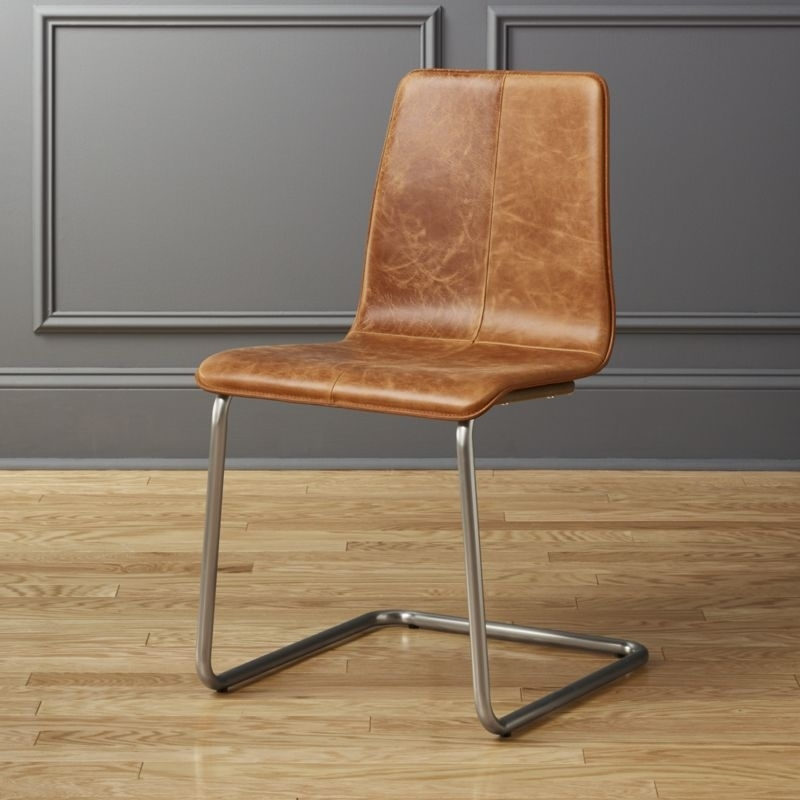 Leather Dining Chairs   Cb2 With Regard To Leather Dining Chairs (View 16 of 25)