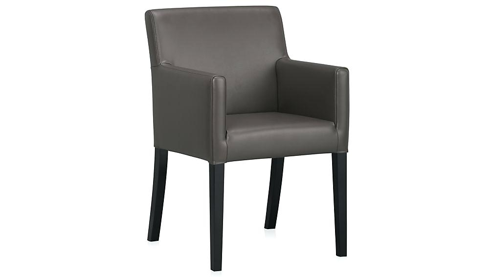 Leather Dining Chairs With Arms Cream Uk Brown Chair Pertaining To Dark Brown Leather Dining Chairs (Image 15 of 25)