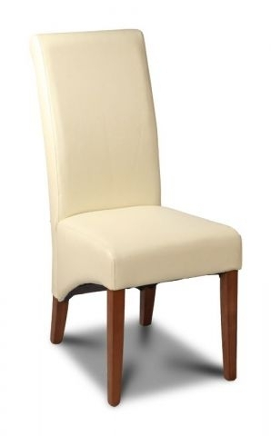 Leather Dining Room Chair In Cream Pertaining To Cream Leather Dining Chairs (Image 16 of 25)