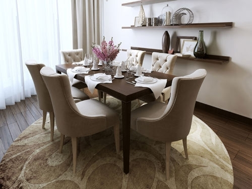 Leather, Wood Or Fabric: Find Your Ideal Dining Room Chair Inside Fabric Dining Room Chairs (Image 15 of 25)