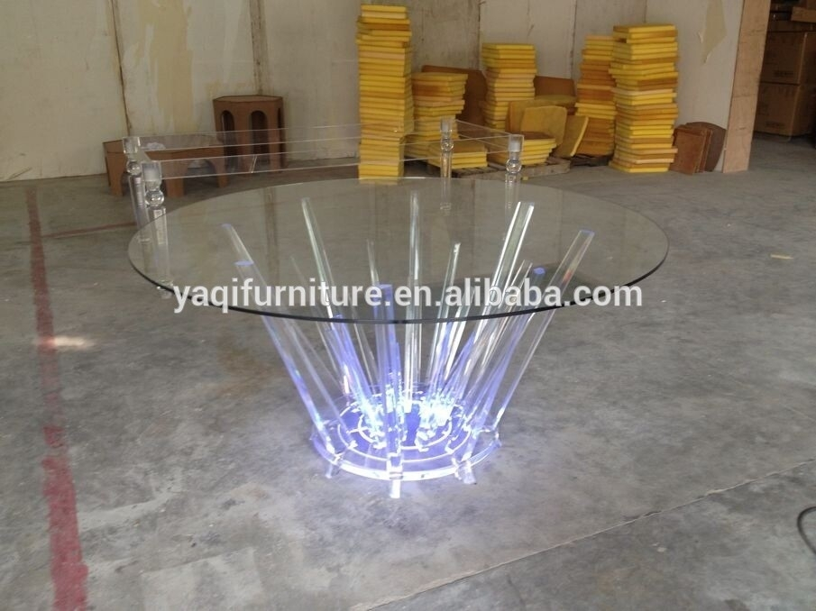 Led Acrylic Round Dining Table – Buy Led Acrylic Round Dining Table With Round Acrylic Dining Tables (View 4 of 25)