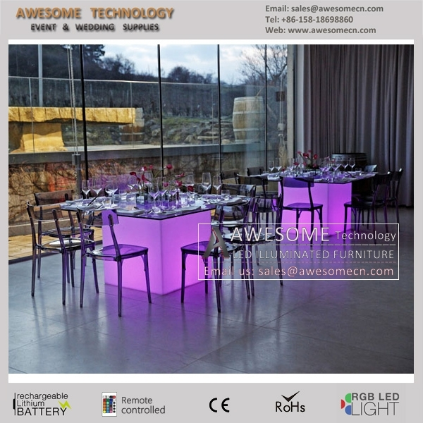 Led Dining Table Design / Luminous Square Wedding Table / Fancy With Led Dining Tables Lights (Image 14 of 25)