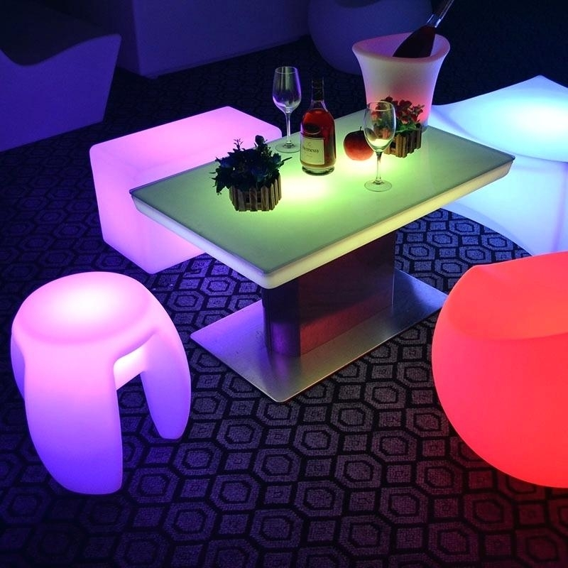 Led Dining Table Related Post Glass With Lights – Chann Pertaining To Dining Tables With Led Lights (Image 16 of 25)