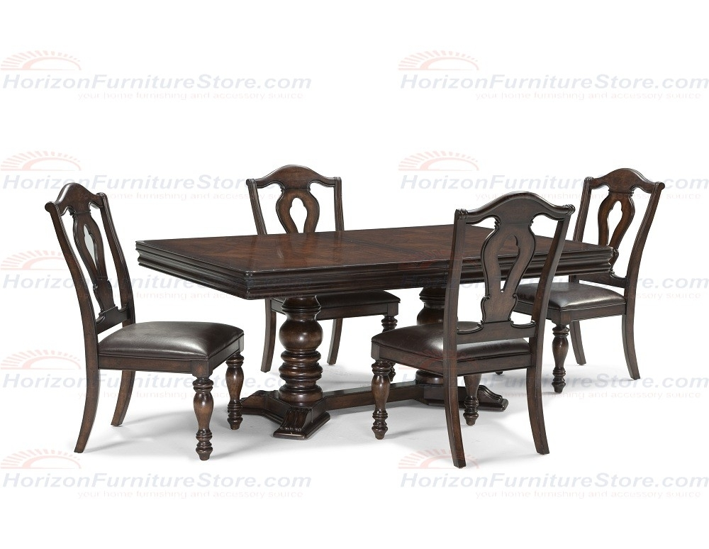 Legacy Classic Furniture Havana 5 Piece Rectangular Double Pedestal In Craftsman 5 Piece Round Dining Sets With Side Chairs (View 24 of 25)