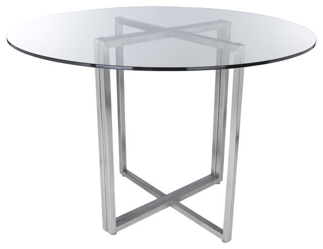 Legend Dining Table Base – Contemporary – Dining Tables Euro Style For Brushed Steel Dining Tables (View 8 of 25)
