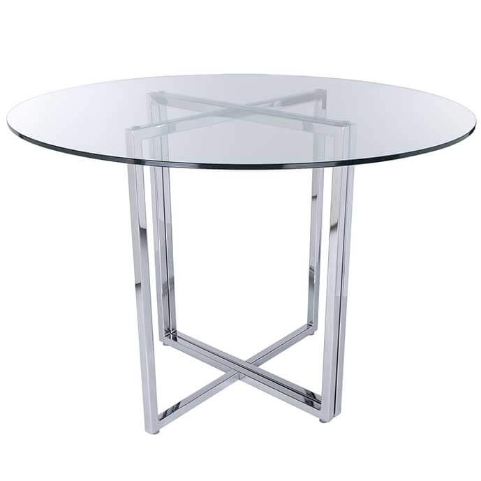 Legend Modern Dining Table Base Chrome Intended For Chrome Dining Sets (View 17 of 25)