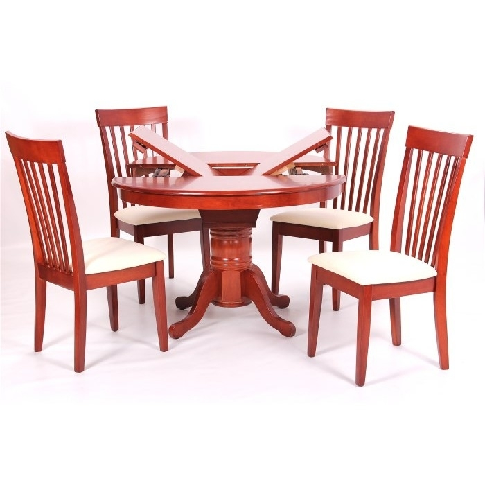 Leicester Extending Dining Table + 4 Chairs Mahogany For Mahogany Extending Dining Tables And Chairs (Image 15 of 25)