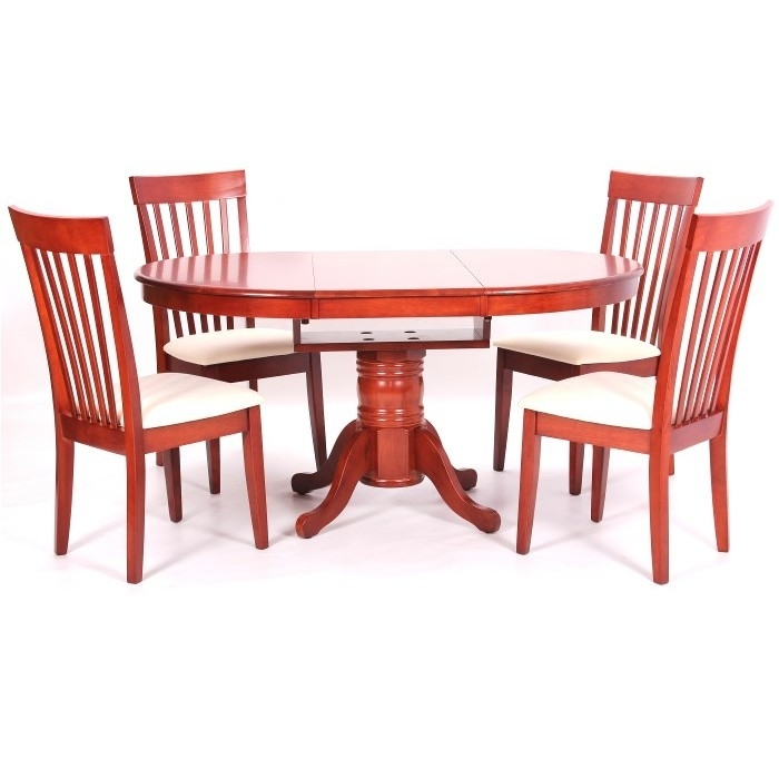 Leicester Extending Dining Table + 4 Chairs Mahogany In Extending Dining Tables And 4 Chairs (View 20 of 25)