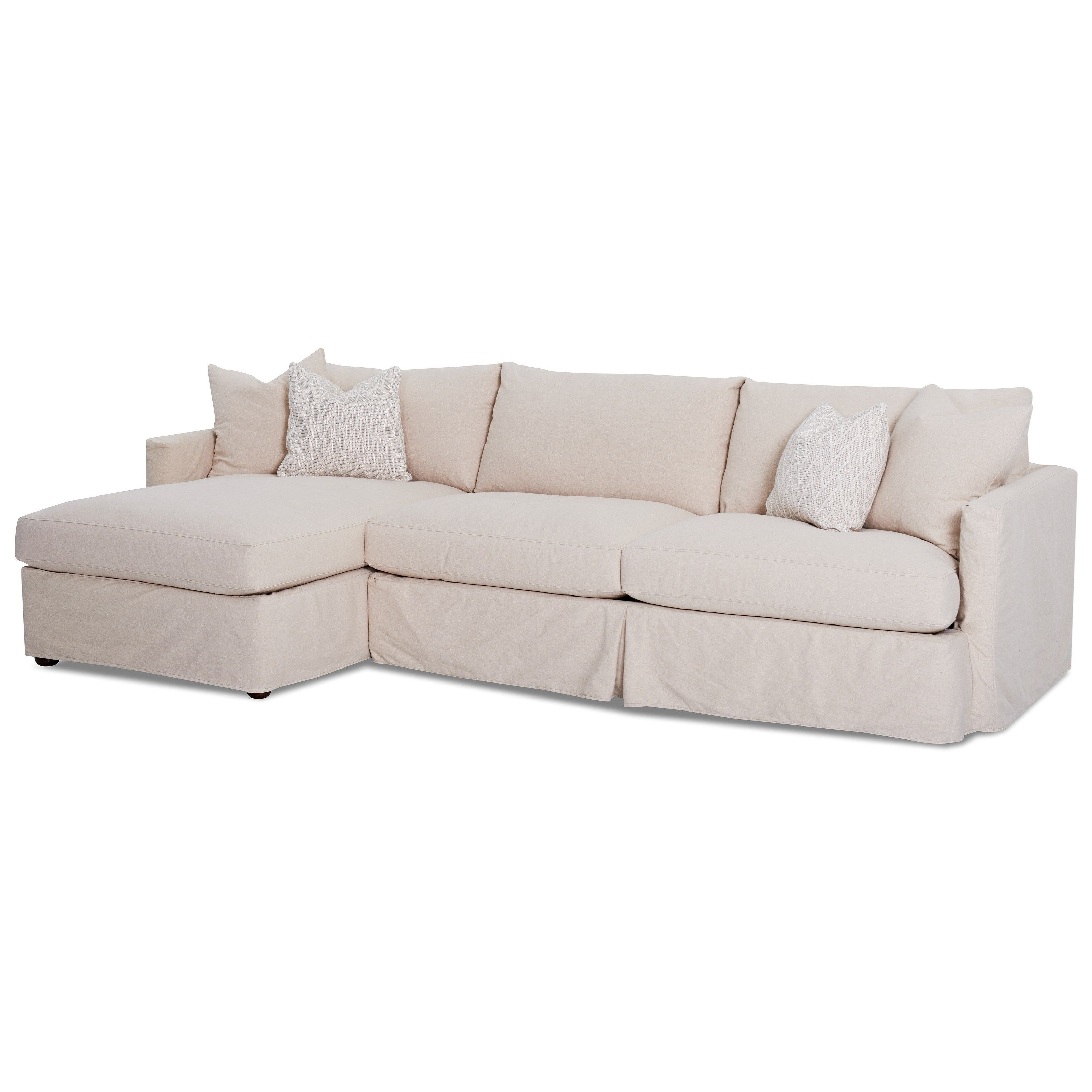 Leisure 2 Pc Sectional Sofa With Slipcoverklaussner | Living In Cohen Down 2 Piece Sectionals (Image 12 of 25)