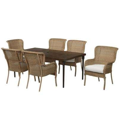 Lemon Grove – Hampton Bay – Patio Furniture – Outdoors – The Home Depot Throughout Leon 7 Piece Dining Sets (View 23 of 25)