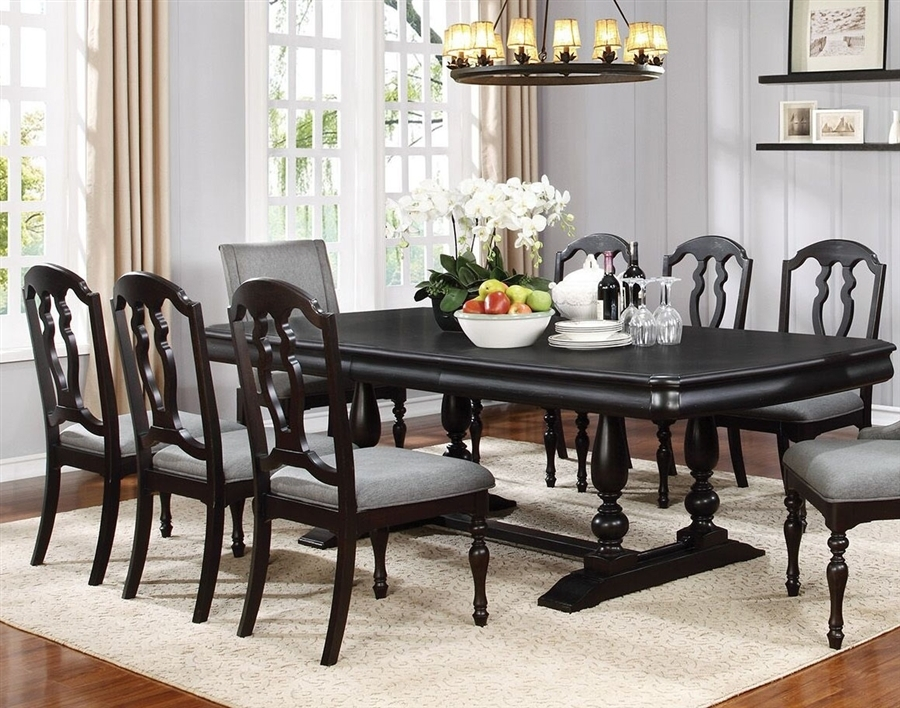 Leon 7 Piece Dining Set In Black Licorice Finishcoaster – 107331 Throughout Leon 7 Piece Dining Sets (View 3 of 25)