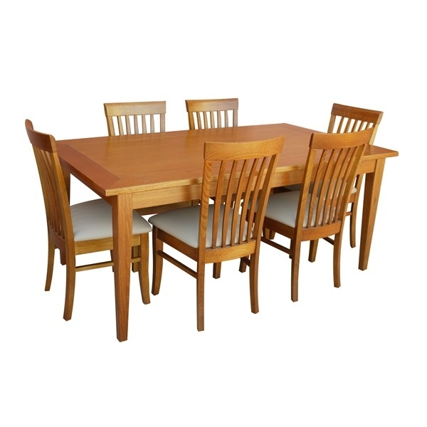 Leon 7 Piece Dining Set (With Medium Dining Table) Throughout Leon Dining Tables (Image 7 of 25)