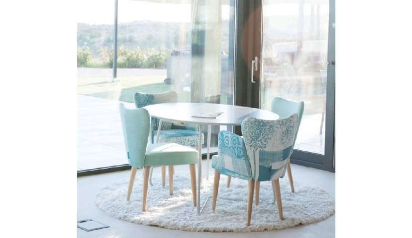 Leon Fabric Dining Chair Range   Darlings Of Chelsea Intended For Leon Dining Tables (Image 11 of 25)