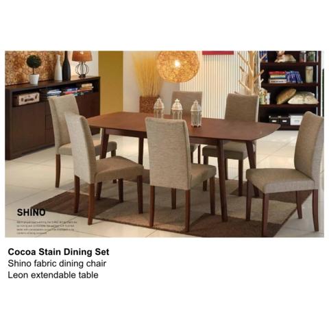 Leon Shino Cocoa Dining Set | My Plan | Pinterest | Dining, Dining Within Leon 7 Piece Dining Sets (View 10 of 25)