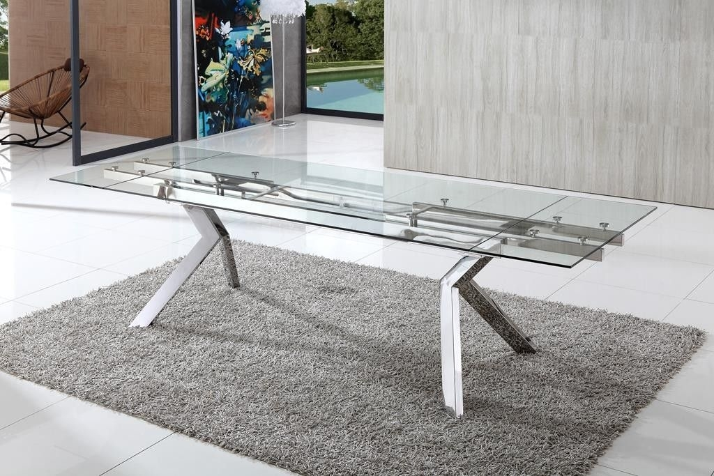 Levante Extending Glass Dining Table | Extended Table | Pinterest Pertaining To Teagan Extension Dining Tables (View 15 of 25)