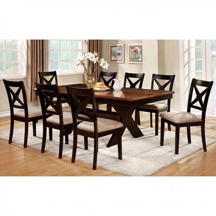 Liberta Transitional Dark Oak Black Dining Table Set – Shop For Pertaining To Dark Dining Tables (Image 20 of 25)