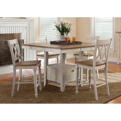 Liberty Furniture Canton Counter Height Gathering Table | Hayneedle With Rocco 8 Piece Extension Counter Sets (View 6 of 25)