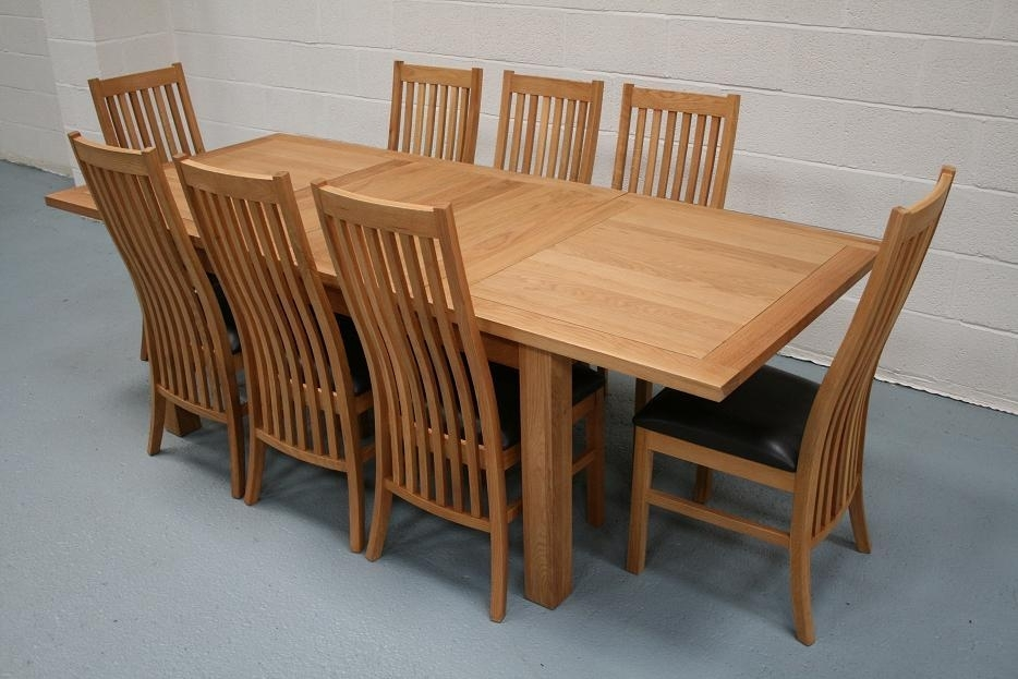 Lichfield Extending Dining Tables | 8 Seater Oak Dining Table Set Pertaining To Extended Dining Tables And Chairs (View 8 of 25)