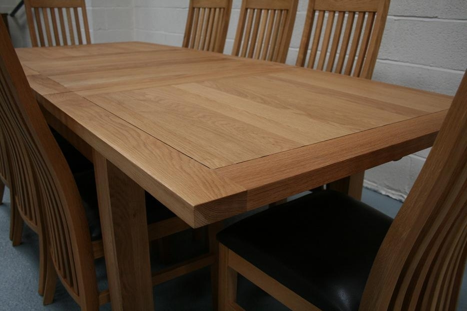 Lichfield Extending Dining Tables | 8 Seater Oak Dining Table Set Pertaining To Oak Dining Tables And 8 Chairs (View 16 of 25)