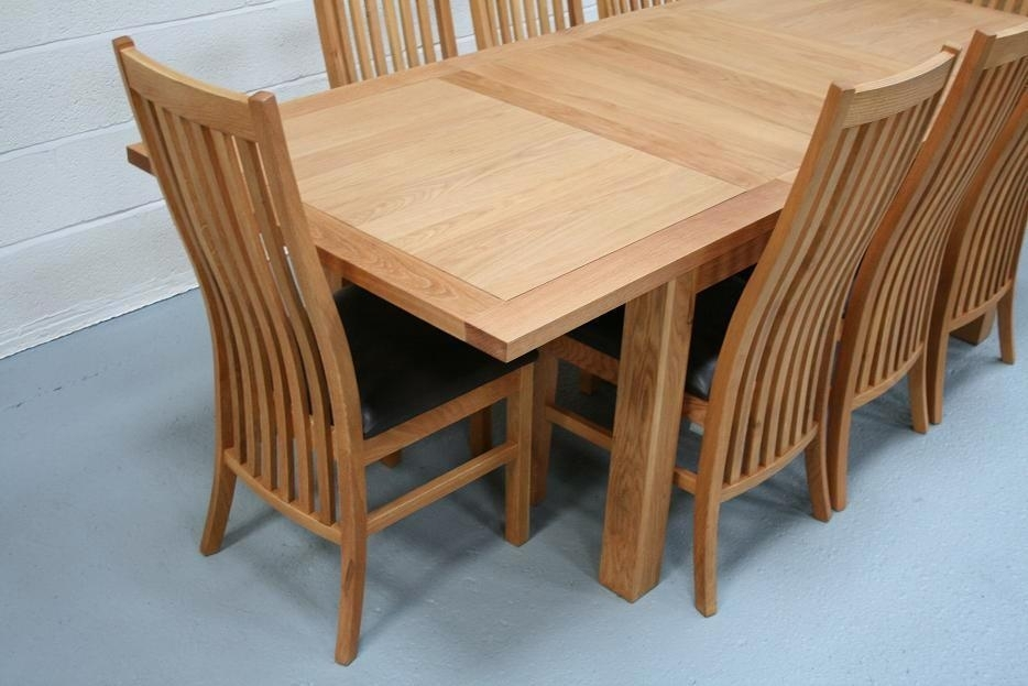 Lichfield Extending Dining Tables | 8 Seater Oak Dining Table Set Throughout Extendable Dining Tables And Chairs (View 18 of 25)