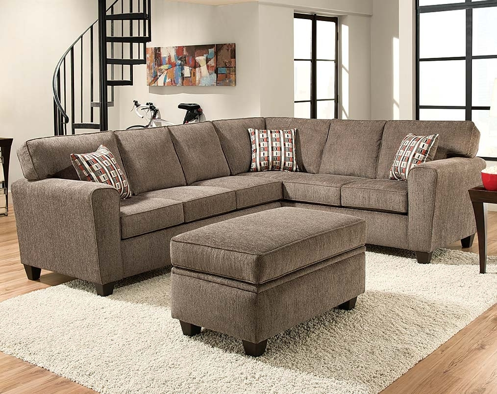 Light Gray Pewter Two Piece Sectional Couch | American Freight Inside Lucy Grey 2 Piece Sleeper Sectionals With Raf Chaise (View 23 of 25)