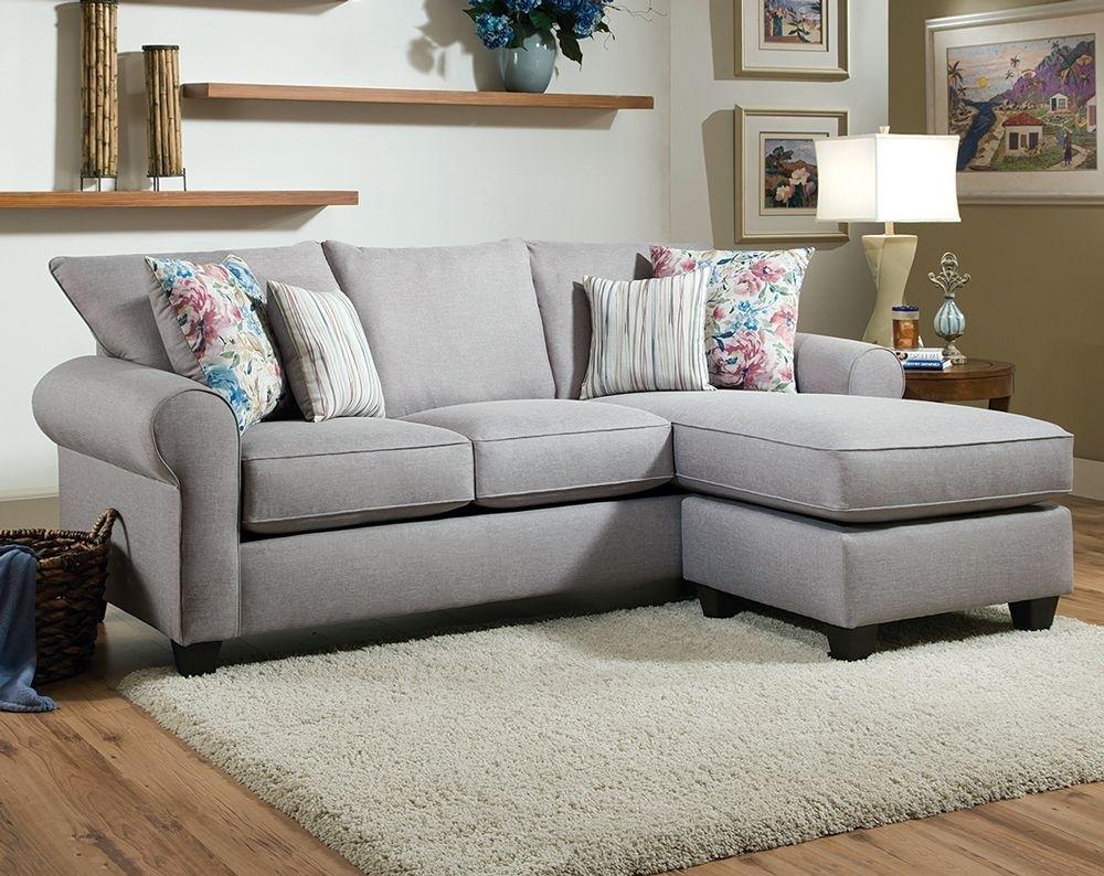 Light Gray Sofa, Printed Pillows | Fibber Glacier 2 Pc (Image 13 of 25)
