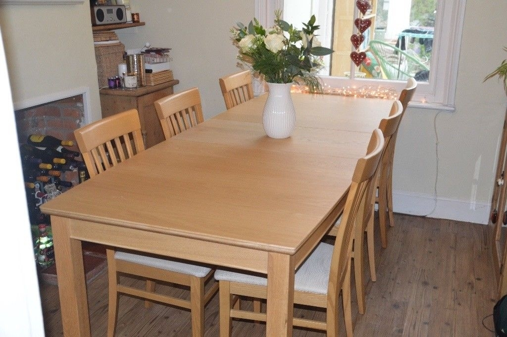 Light Oak Dining Table And 6 Chairs From John Lewis Immaculate Pertaining To Light Oak Dining Tables And 6 Chairs (View 20 of 25)