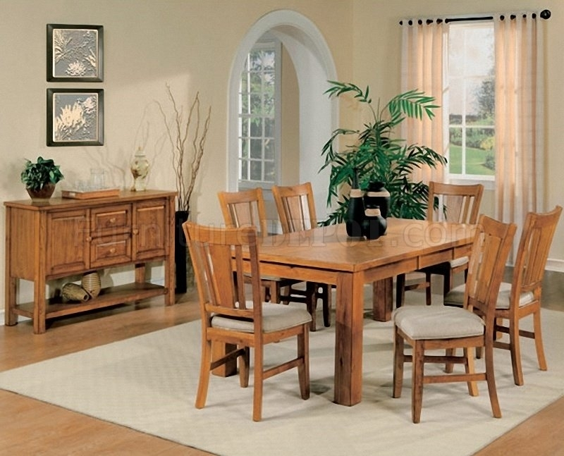 Light Oak Finish Casual Dining Room Table W/optional Chairs Intended For Light Oak Dining Tables And Chairs (Image 14 of 25)