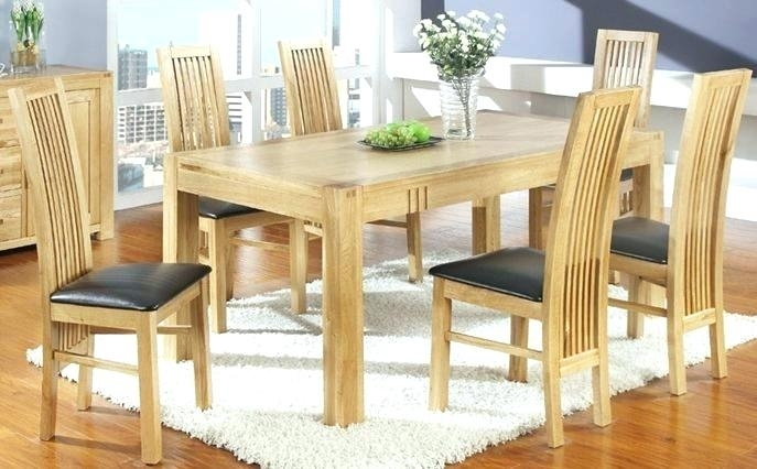 Light Wood Dining Room Furniture Light Wood Dining Room Furniture In Light Oak Dining Tables And Chairs (Image 16 of 25)