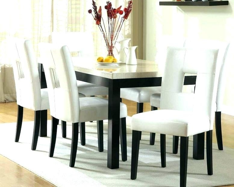Light Wood Dining Table White Legs Dark With Kitchen Top Wooden Inside Dining Tables With White Legs And Wooden Top (Image 16 of 25)