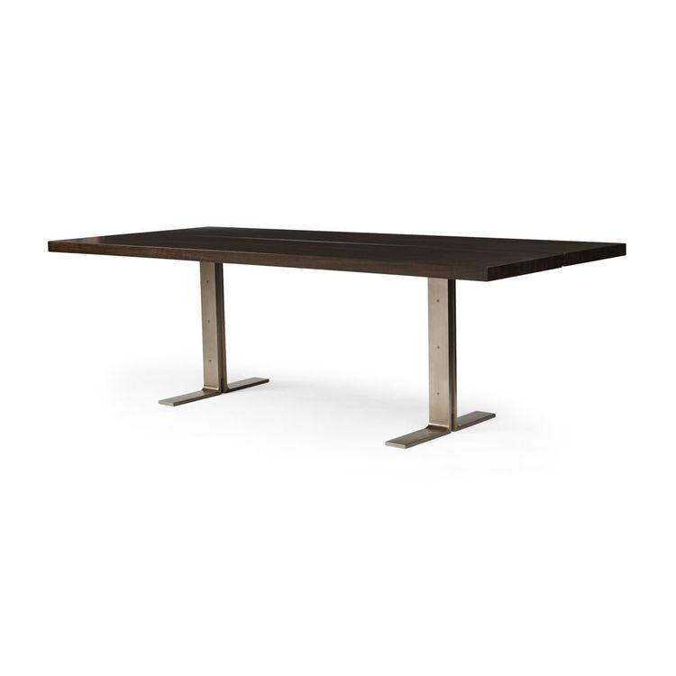 Lily Metal Base Dining Table Throughout Jaxon Grey Rectangle Extension Dining Tables (View 5 of 25)
