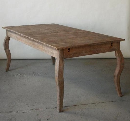 Limed Grey Oak French Style Dining Table, $495, Available In New Intended For French Chic Dining Tables (View 18 of 25)
