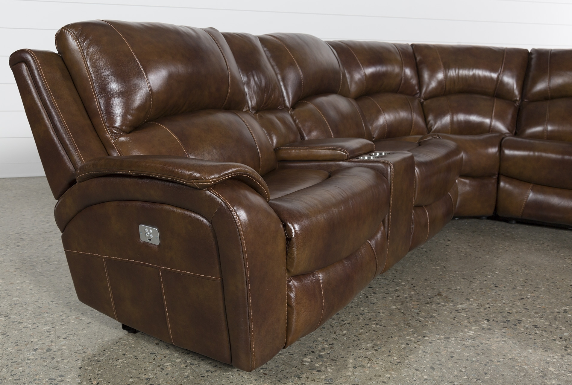 Lincoln Aged Leather Chesterfield – 2 Seater In Travis Cognac Leather 6 Piece Power Reclining Sectionals With Power Headrest & Usb (Image 16 of 25)