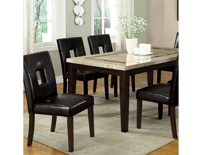 Lisbon I Contemporary Dark Walnut Dining Table Set – Shop For Intended For Walnut Dining Table Sets (View 22 of 25)