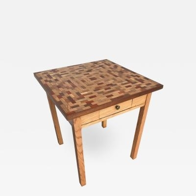 Little Parquet Top Game Or Dining Table With Regard To Parquet Dining Tables (View 9 of 25)