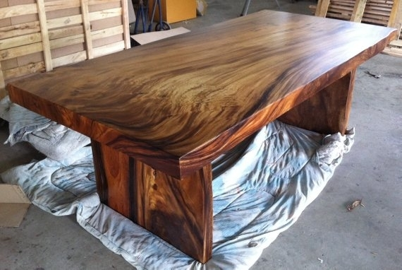Live Edge Dining Table Reclaimed Solid Slab Acacia Wood   Etsy For Acacia Dining Tables (View 3 of 25)