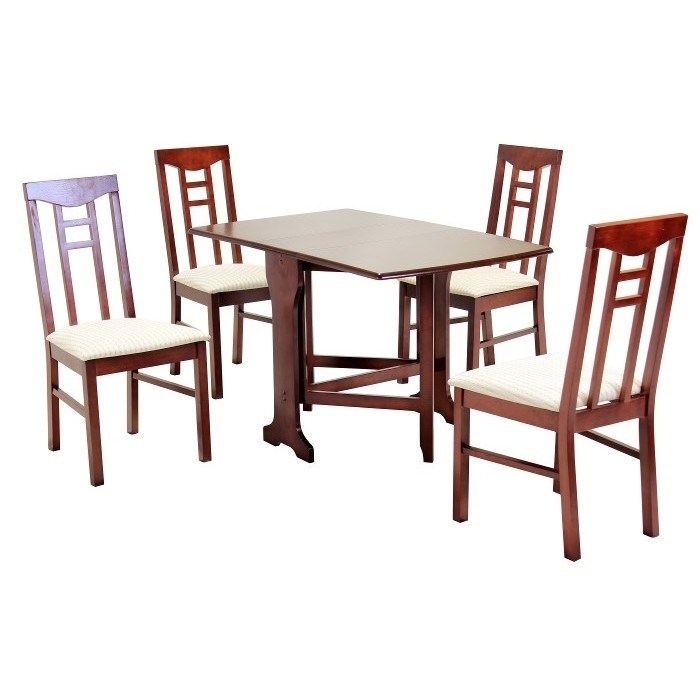 Liverpool Gateleg Dining Table 4 Chairs Mahogany Throughout Mahogany Dining Tables And 4 Chairs (Image 12 of 25)
