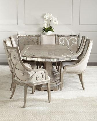 Living Room Furniture & Dining Chairs At Neiman Marcus Horchow For Market 6 Piece Dining Sets With Host And Side Chairs (Image 18 of 25)
