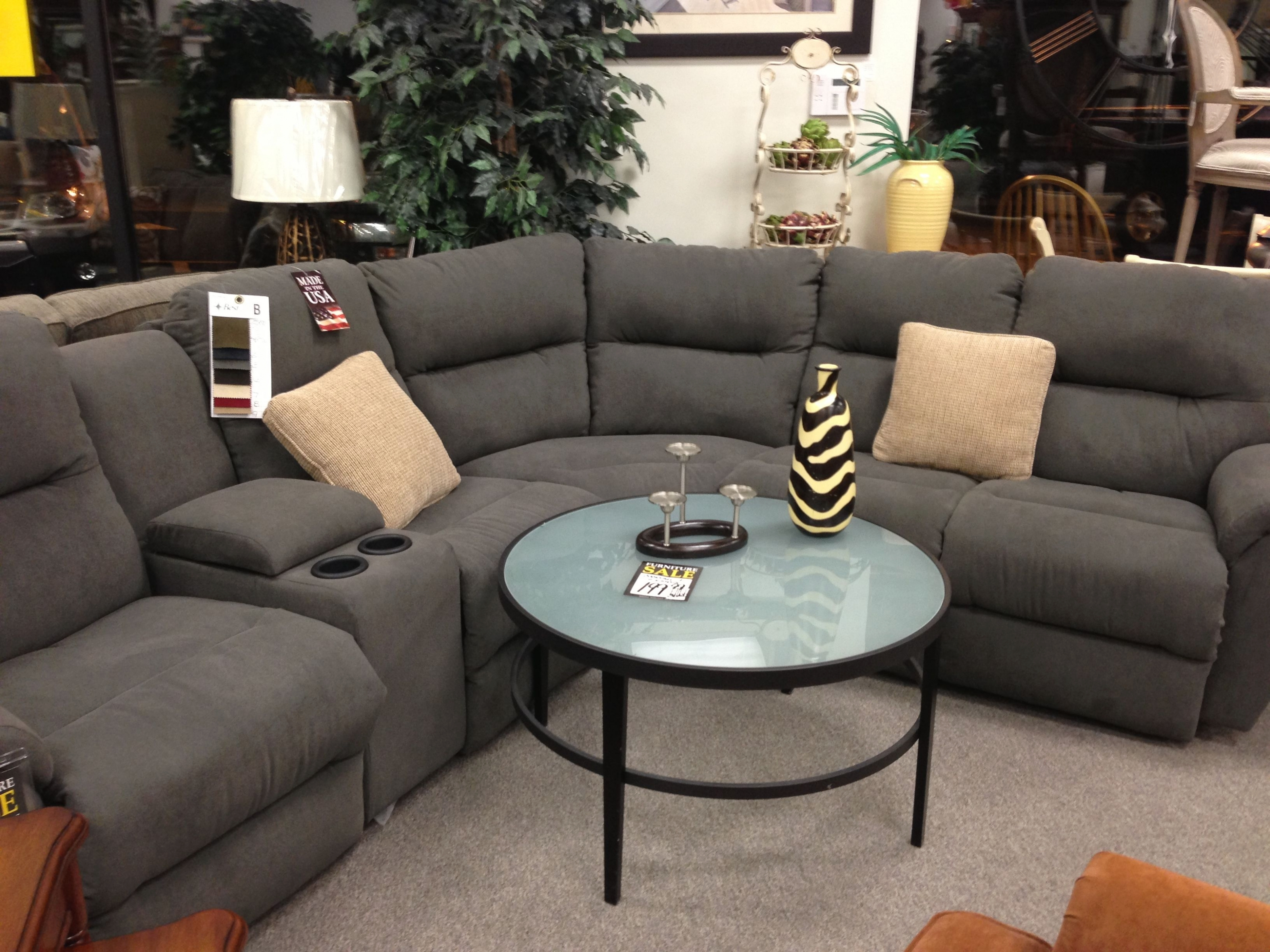 Living Room: Grey Reclining Sectional From Michael's | House Ideas Regarding Calder Grey 6 Piece Manual Reclining Sectionals (Image 18 of 25)