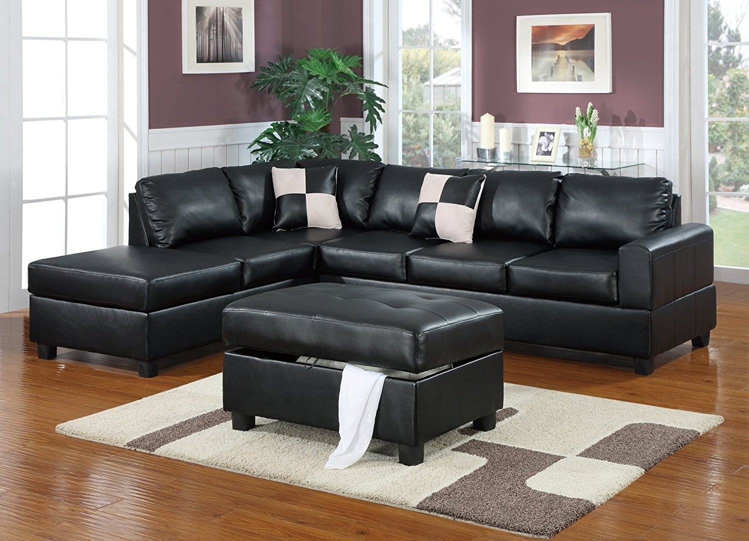 Living Room: Loric Smoke 3 Piece Sectional W/raf Chaise Living Spaces With Gordon 3 Piece Sectionals With Raf Chaise (Image 16 of 25)
