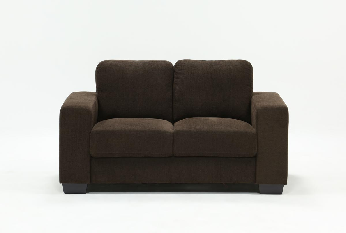 Living Spa David Dark Grey Loveseat | Stratadime Intended For Taron 3 Piece Power Reclining Sectionals With Right Facing Console Loveseat (Image 8 of 20)