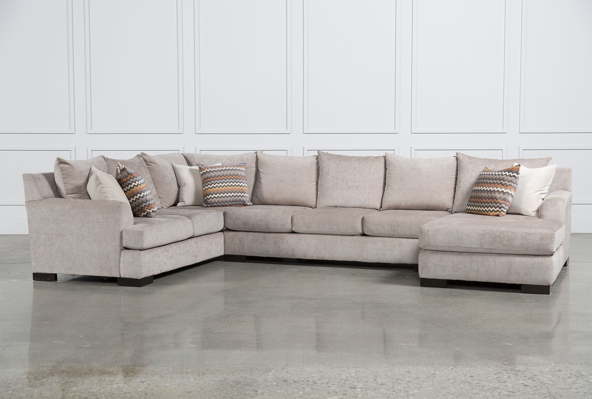 Living Space Sectional Sofa – Sofa Design Ideas Inside Aquarius Light Grey 2 Piece Sectionals With Raf Chaise (Image 16 of 25)
