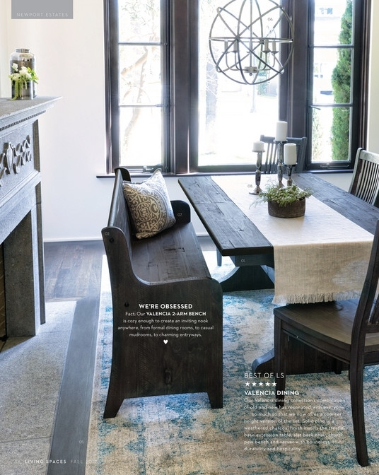 Featured Image of Valencia 72 Inch Extension Trestle Dining Tables