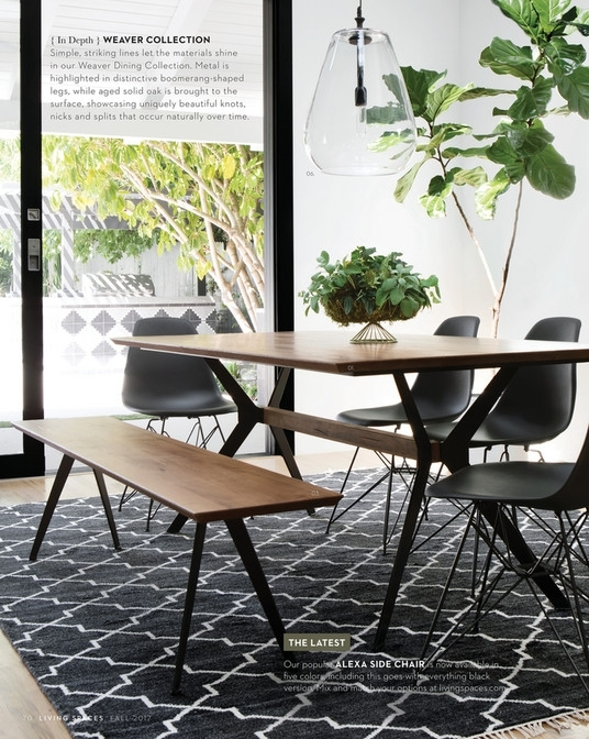 Living Spaces – Fall 2017 – Weaver Dining Table In Weaver Ii Dining Tables (Image 10 of 25)